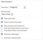 Taxonomy Menu Options