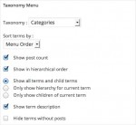 Taxonomy Menu Options