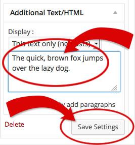 Additional Text Input
