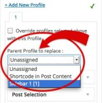 Replace Parent Profile